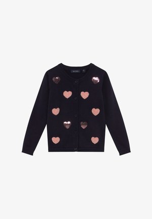 KIDS SEQUIN HEARTS - Kofta - nachtblau