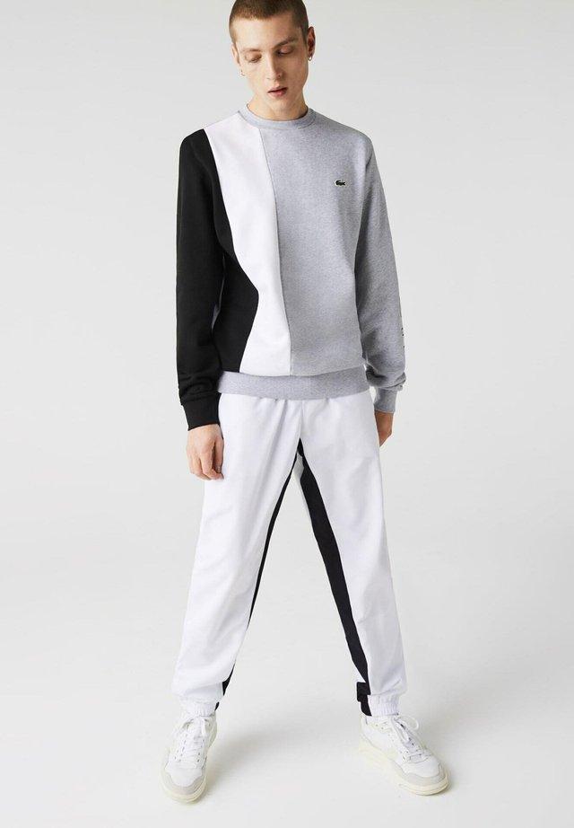 SH0169  - Sweatshirt - gris chine / blanc / noir