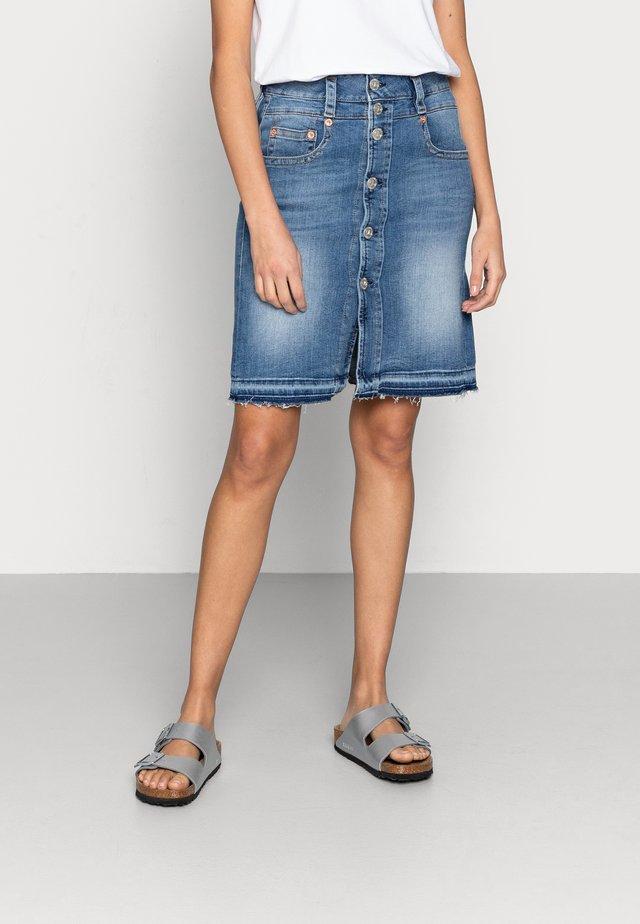 PERI SKIRT - Denimová sukně - blue denim