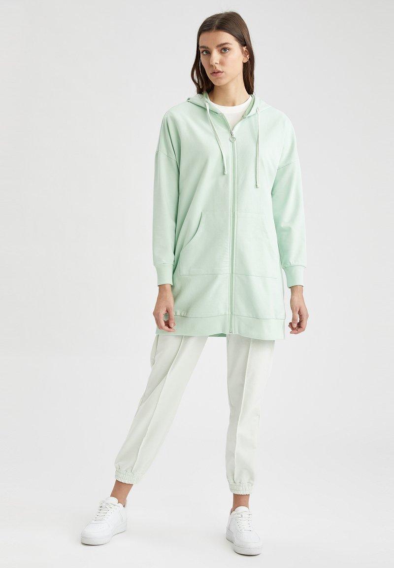 DeFacto - Zip-up hoodie - turquoise