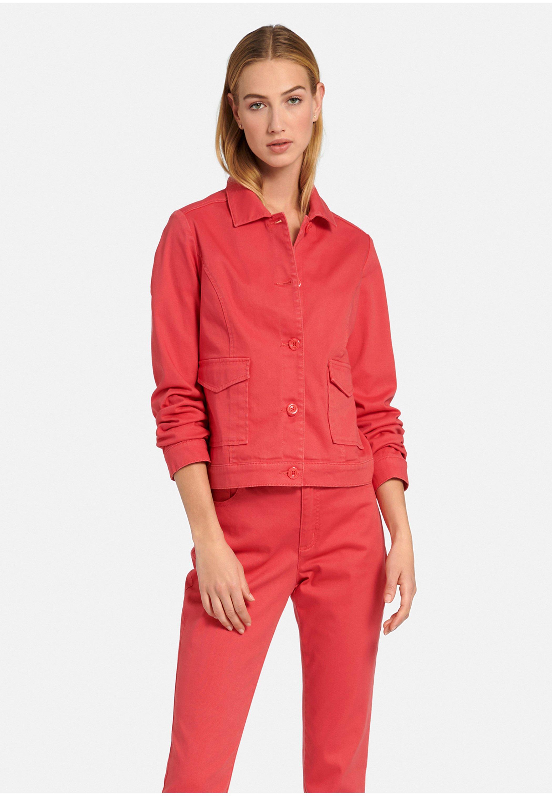 Femme MIT RUNDHALS - Veste en jean