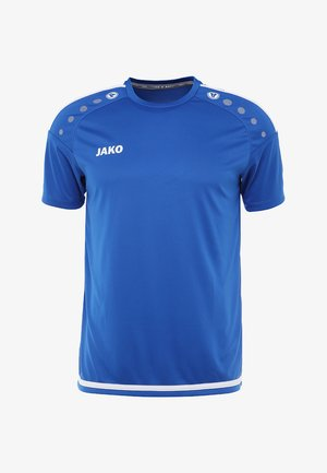 TRIKOT STRIKER  - T-shirt sportiva - royal/weiß