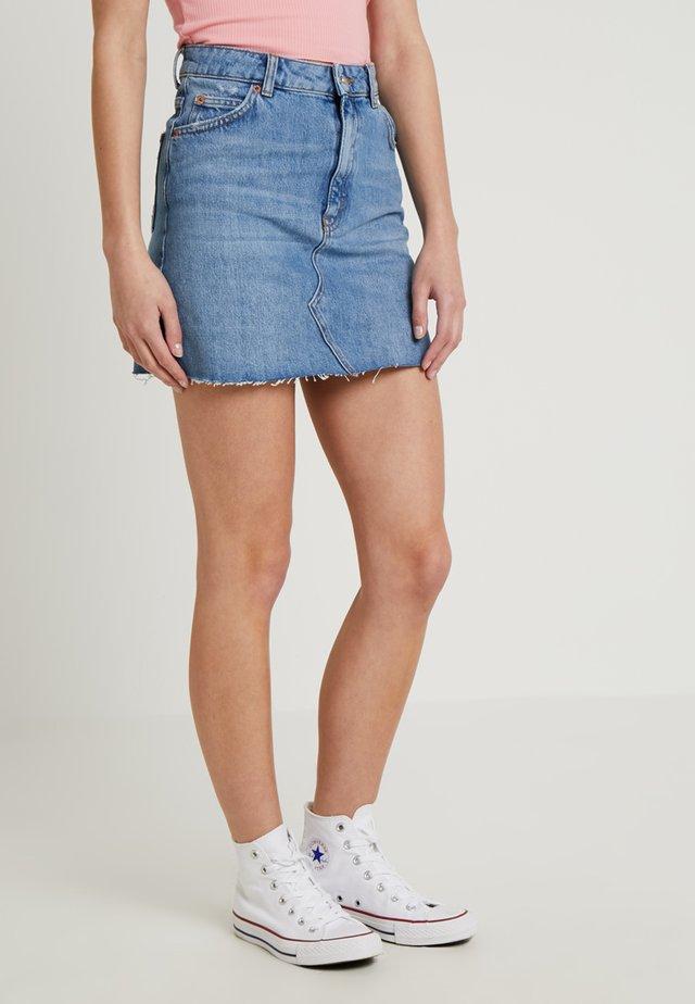 CLEAN - Denim skirt - blue denim