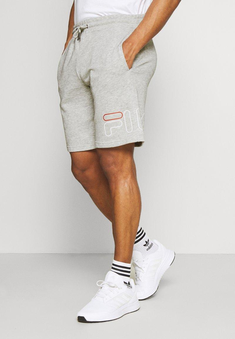 Fila - JARED SHORTS - Sportovní kraťasy - light grey melange