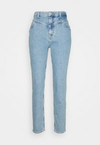 MOM  - Straight leg jeans - light blue yoke