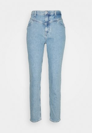 MOM  - Jeans Straight Leg - light blue yoke