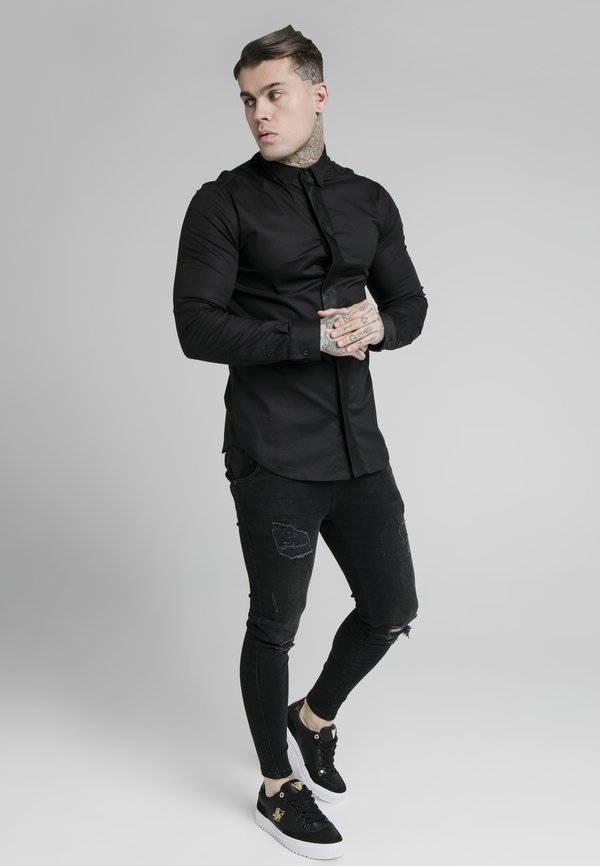 SIKSILK Koszula - black/czarny Odzież Męska FBTW