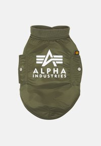 Alpha Industries - DOG JACKET BACKPRINT UNISEX - Other accessories - dark olive - 0