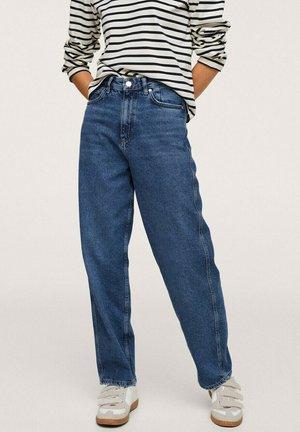 DROIT TAILLE HAUTE - Straight leg jeans - bleu foncé