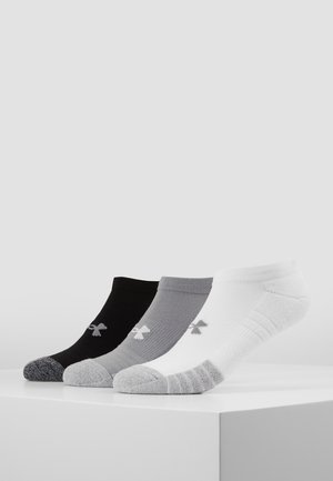 HEATGEAR 3 PACK - Trainer socks - steel/white/black