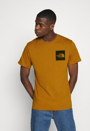 FINE TEE - Print T-shirt - timber tan