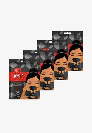 CHARCOAL PAPER MASK 4 PACK - Gesichtspflegeset - -