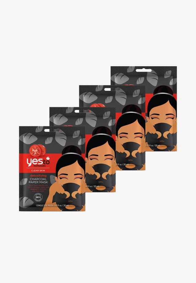 CHARCOAL PAPER MASK 4 PACK - Skincare set - -