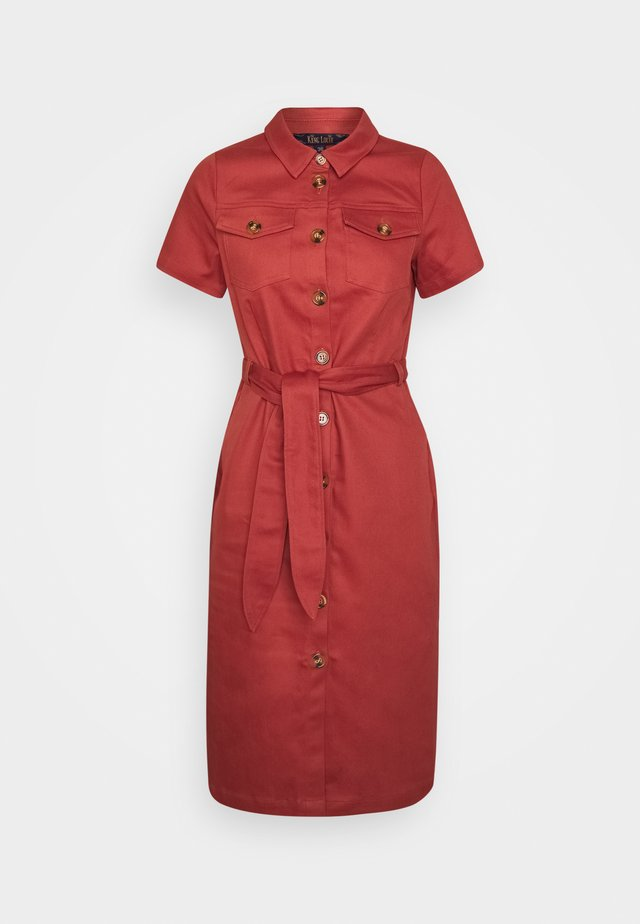 KATY DRESS STURDY - Skjortekjole - desert red
