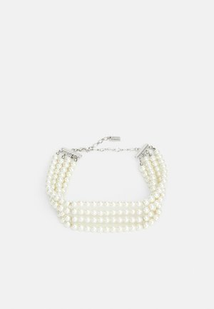 Necklace - silver-coloured/pearl