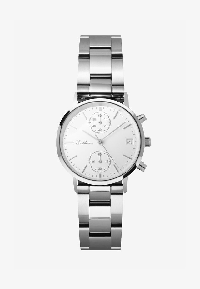 TILFREDSHED 34MM - Chronograph watch - silver-white