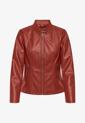 ONLMELISA  - Faux leather jacket - red ochre