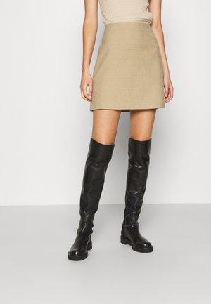 CENTIE SKIRT - Mini skirt - camel/oat or black
