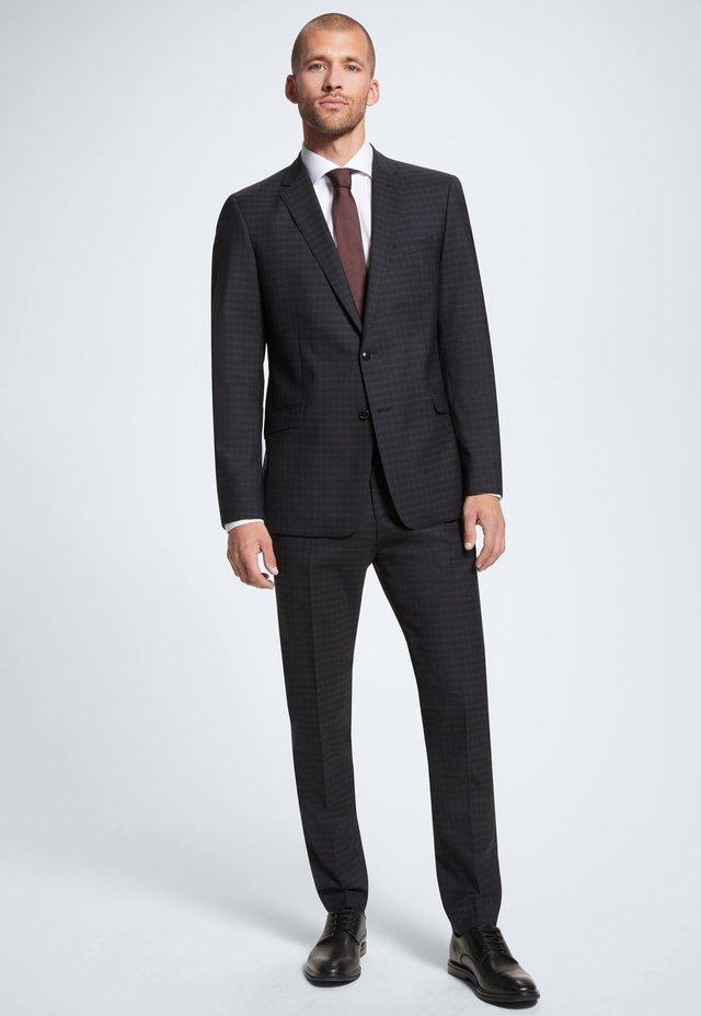 ALLEN-MERCER - ANZUG - Pantalon de costume - dunkelblau kariert