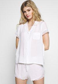 Pour Moi - SPOT MIX SHORT - Pyjama bottoms - white - 1