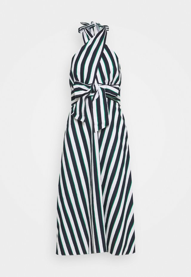 CROSS FRONT HALTER STRIPE - Kjole - bright downtown/green