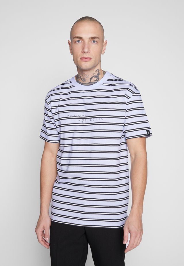 UNISEX STRIPED LOGO PRINTED WHIP TEE - Printtipaita - blue