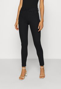 JDY - JDYNEWNIKKI LIFE HIGH - Jeans Skinny Fit - black denim - 0