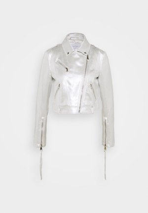 JACKET - Faux leather jacket - iridescent