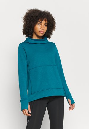 GALVANISE RUNNING HOODY - Jersey con capucha - teal blue