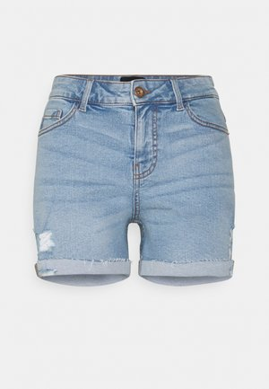 PCLISA DESTROY - Denim shorts - light blue denim