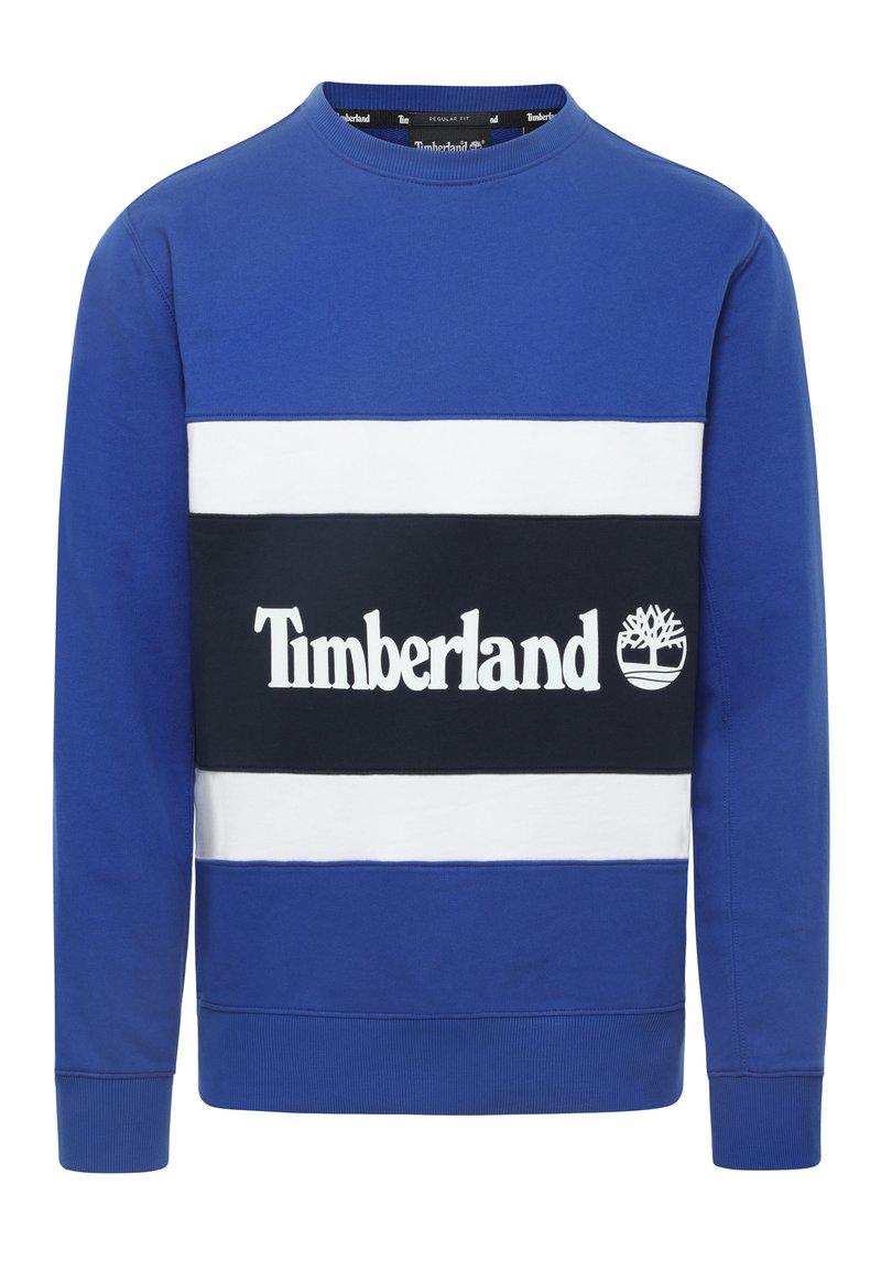 Timberland - CUT & SEW COLORBLOCK - Sweatshirt - surf the web/dark sapphire