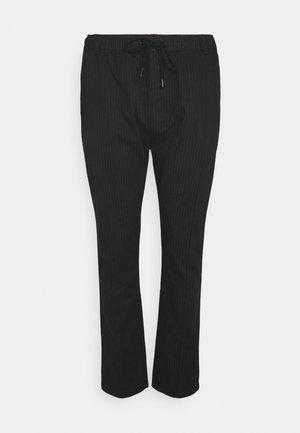 PINSTRIPE TROUSER BIG & TALL - Pantaloni - black