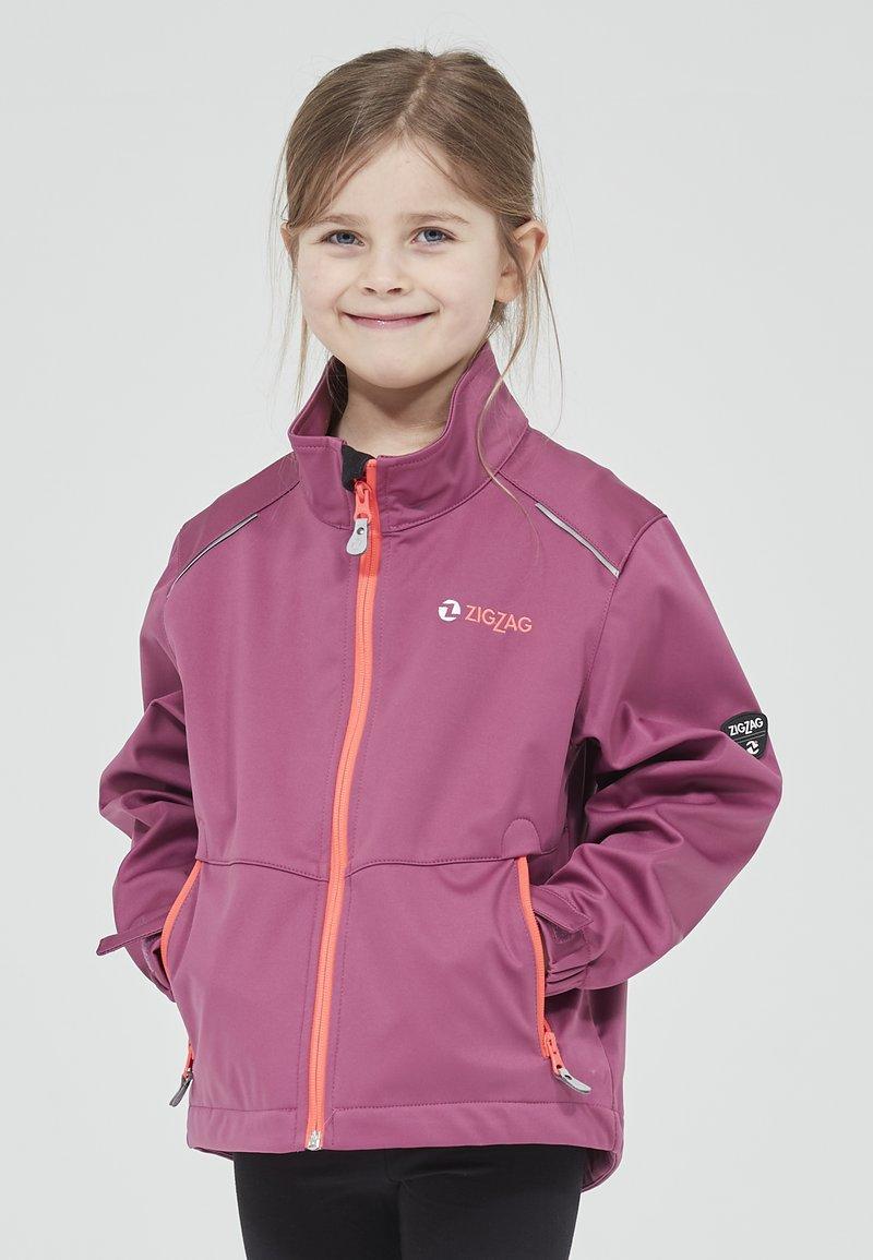 ZIGZAG - Waterproof jacket - 4140 damson