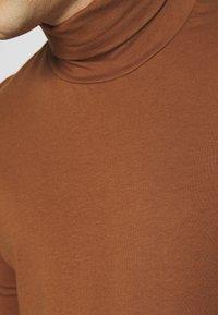 Topman - ROLL NECK 2 PACK - Longsleeve - grey/brown - 6