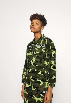 SHORT CAMO TRUCKER JACKET - Denim jacket - green