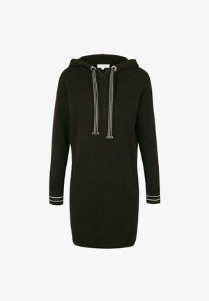 STRAIGHT WITH HOOD - Jumper dress - black