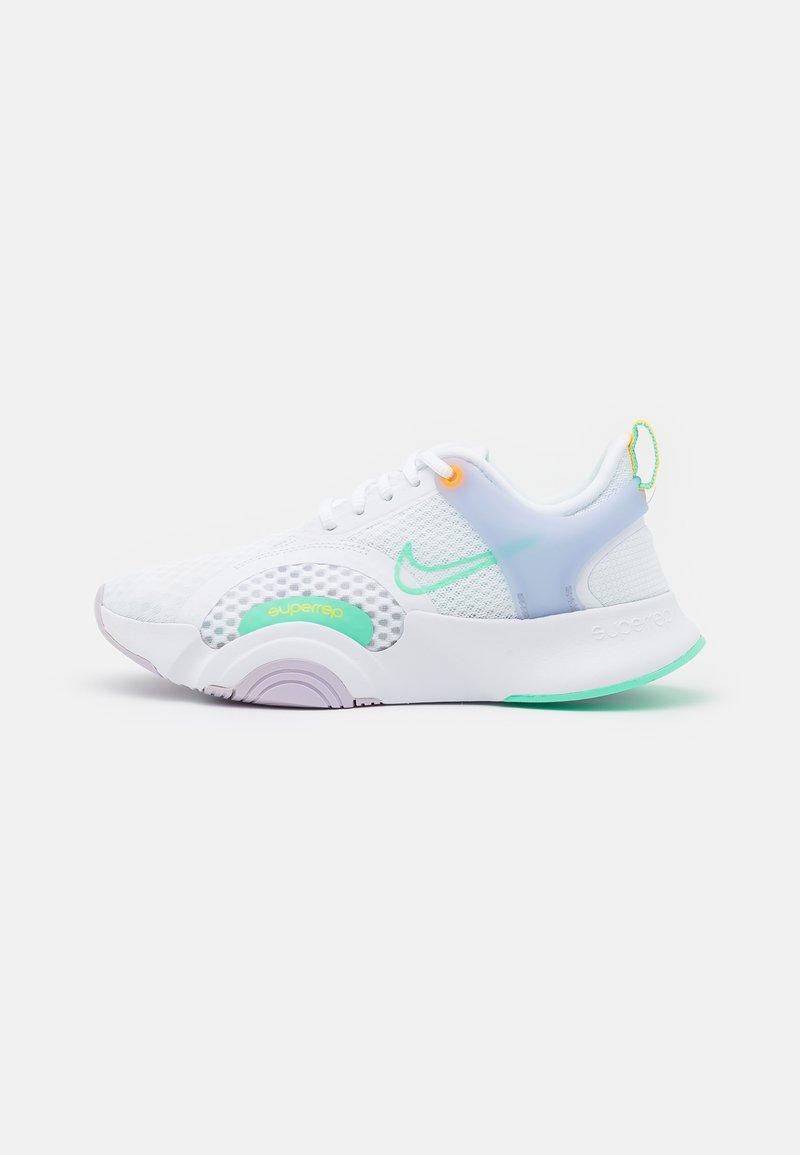 Nike Performance - SUPERREP GO 2 - Sports shoes - white/green glow/infinite lilac/football grey/laser orange
