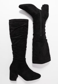 Lost Ink Wide Fit - WIDE FIT SLOUCHY KNEE HIGH BOOT - Kozaki - black - 3