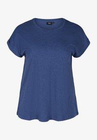 Zizzi - Basic T-shirt - twilight blue mel. - 3