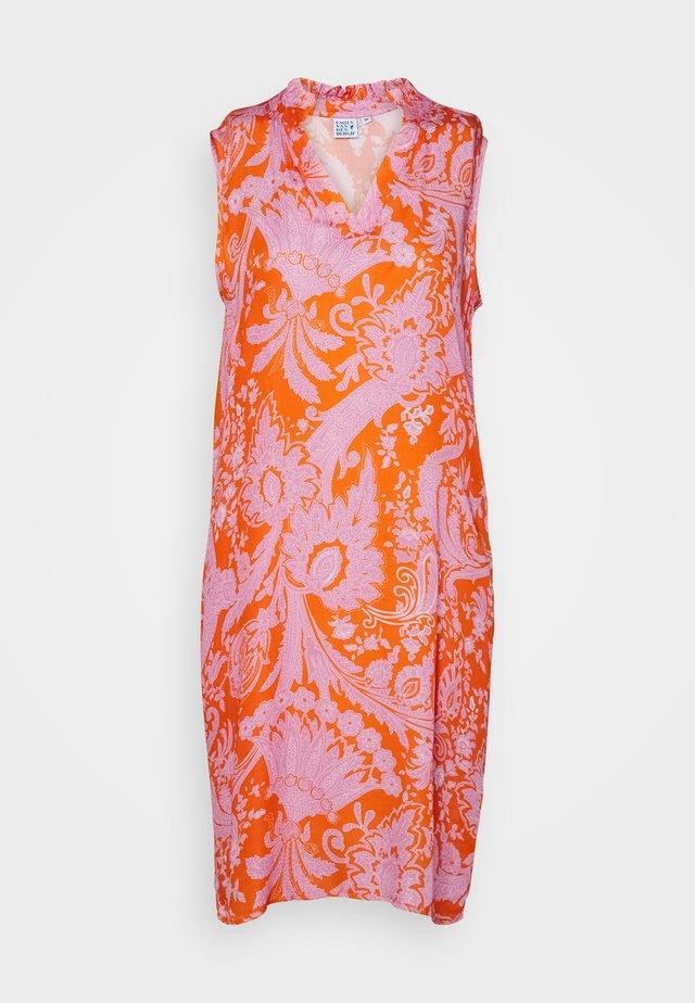 Denní šaty - orange/pink
