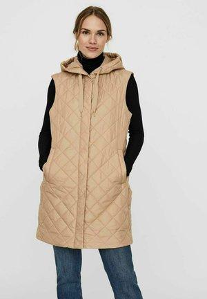 Waistcoat - beige  mottled beige