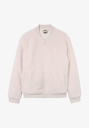 ALPHA SHERPA COVERUP - Fleece jacket - pastel parchment
