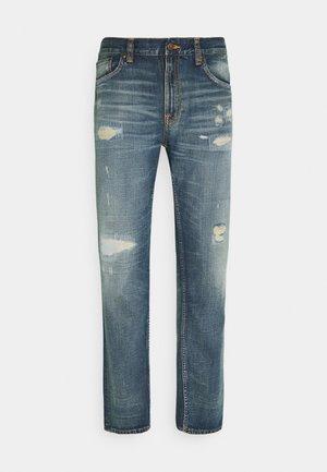 GRITTY JACKSON - Straight leg jeans - indigo galaxy
