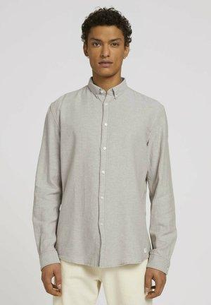 Shirt - olive off white twill