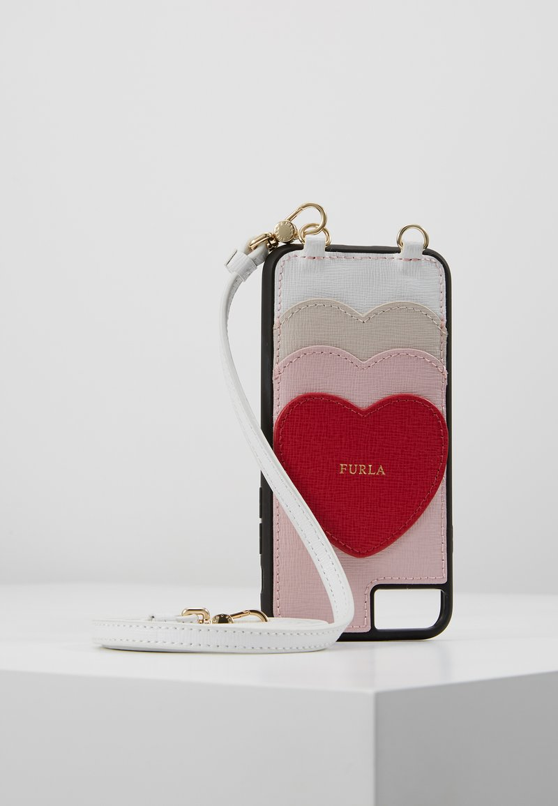 Furla - HIGH TECH HEART - Phone case - camelia/ruby/lino