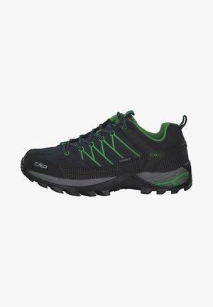 RIGEL LOW TREKKING SHOES WP - Hiking shoes - dark blue/green