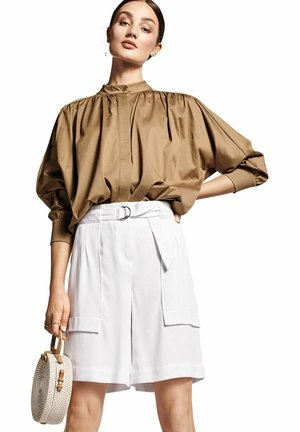 Button-down blouse - taupe (23)