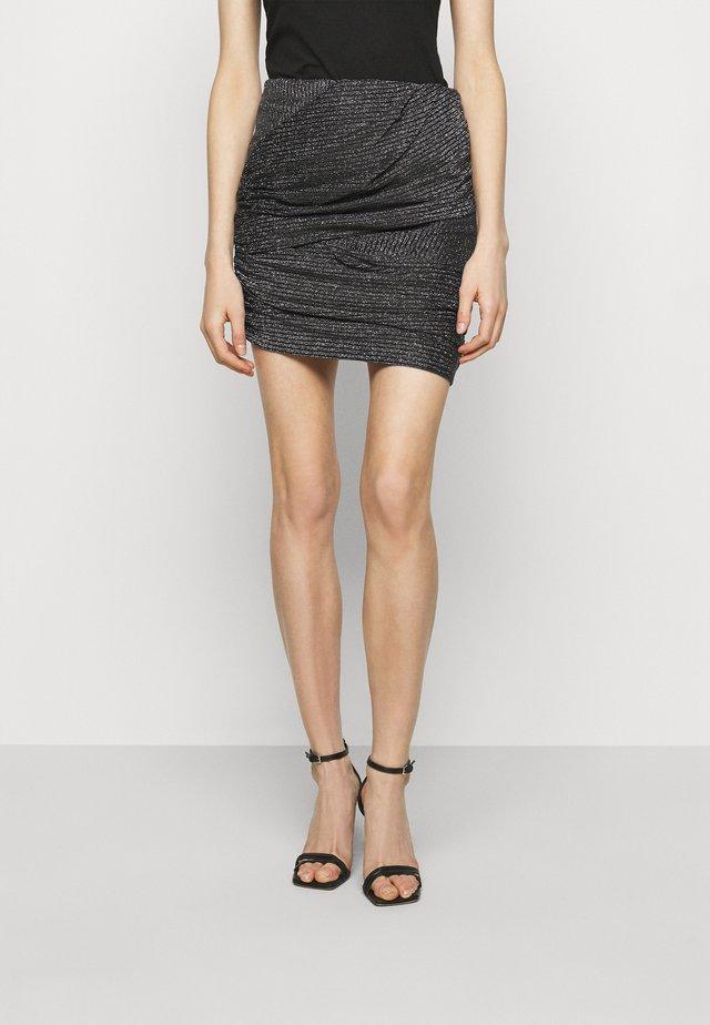 SKIRT - Pouzdrová sukně - black/silver
