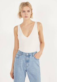 Bershka - Top - white - 0
