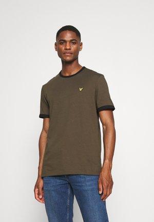 RINGER  - T-shirt - bas - olive/jet black
